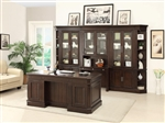 Stanford 7 Piece Home Office Set in Light Vintage Sherry Finish by Parker House - STA-463-7