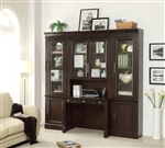 Stanford 4 Piece Library Desk Home Office Set in Light Vintage Sherry Finish by Parker House - STA-463-4