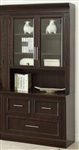 Stanford 2 Piece Lateral File and Hutch in Light Vintage Sherry Finish by Parker House - STA-476-2
