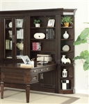 Stanford 5 Piece Peninsula Desk Bookcase Wall in Light Vintage Sherry Finish by Parker House - STA-490-5