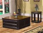 Venezia Occasional Tables in Vintage Burnished Black Finish with Espresso Top by Parker House - TAB-27-04