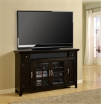 Tahoe 62-Inch TV Console in Vintage Black Burnished Finish by Parker House - TAH-62TL