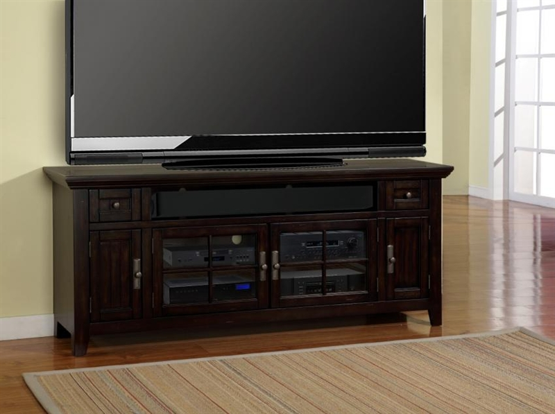 Tahoe 72 Inch Tv Console In Vintage Black Burnished Finish