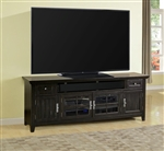 Tahoe 84-Inch TV Console in Vintage Black Burnished Finish by Parker House - TAH-84