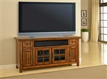 Terrace 72-Inch TV Console in Antique Vintage Smoked Ash Finish by Parker House - TER-72
