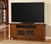 Terrace 84-Inch TV Console in Antique Vintage Oak Finish by Parker House - TER-84