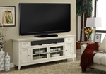 Tidewater 72-Inch TV Console in Vintage White Finish by Parker House - TID-72