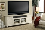 Tidewater 84-Inch TV Console in Vintage White Finish by Parker House - TID-84