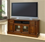 Toscano 62-Inch TV Console in Antique Vintage Dark Chestnut Finish by Parker House - TOS-62