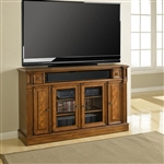Toscano 62-Inch TV Tall Console in Antique Vintage Dark Chestnut Finish by Parker House - TOS-62TL