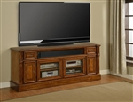 Toscano 72-Inch TV Console in Antique Vintage Dark Chestnut Finish by Parker House - TOS-72