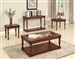 Athens Occasional Tables in Antique Light Vintage Chocolate Finish by Parker House - TPAT-00