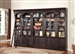 Venezia 5 Piece Bookcase Library Wall in Vintage Burnished Black Finish by Parker House - VEN-440-5