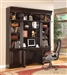 Venezia 4 Piece Bookcase Library Wall with Library Desk in Vintage Burnished Black Finish by Parker House - VEN-460-2-4