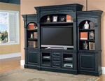 Venezia 60-Inch TV 5Pc Wall System in Distressed Vintage Black Finish by Parker House - VEN-600-5WS