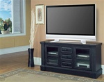 "Venezia 64"" TV Console in Distressed Vintage Black Finish by Parker House - VEN-605"
