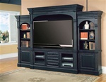 Venezia 66-Inch TV 5Pc Wall System in Distressed Vintage Black Finish by Parker House - VEN-610-5WS