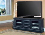 "Venezia 77"" TV Console in Distressed Vintage Black Finish by Parker House - VEN-615"