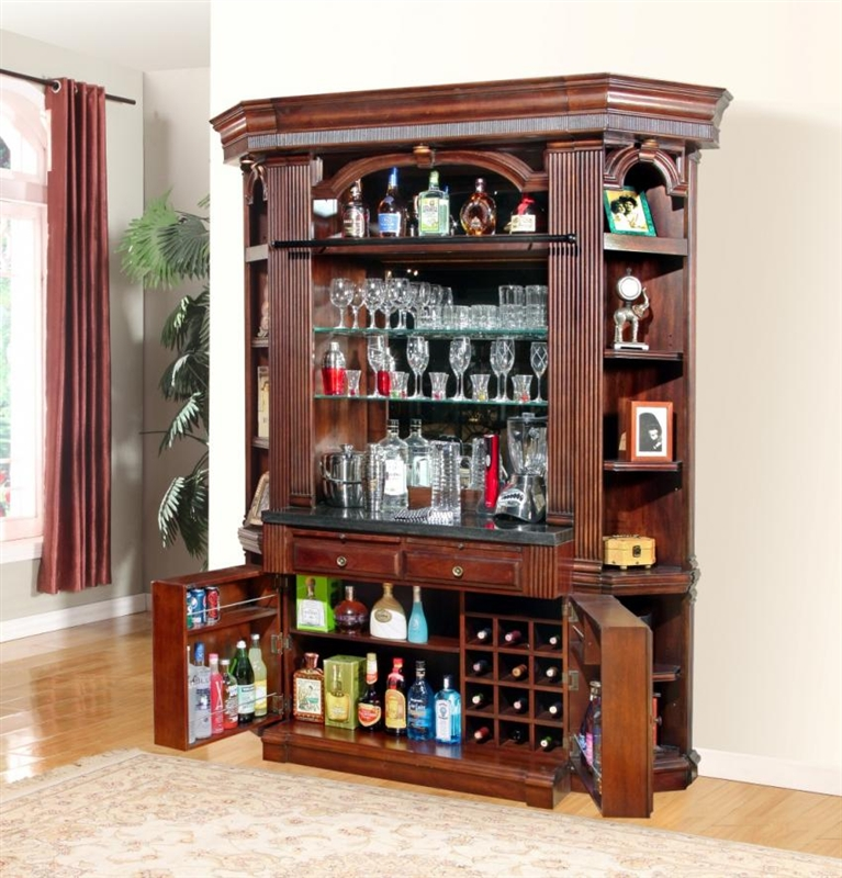 Mahogany Home Library Office: Wellington 5 Piece Bookcase Library Wall In Vintage Brown