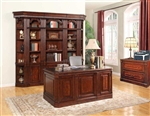 Wellington 6 Piece Home Office Set in Vintage Brown Mahogany Finish by Parker House - WAL-430-S