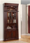 Wellington 32 Inch Glass Top Bookcase in Vintage Brown Mahogany Finish by Parker House - WEL-440