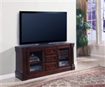Wellington 61-Inch TV Console in Vintage Brown Mahogany Finish by Parker House - WEL-705