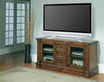 "Yorktown 64"" TV Console in Distressed Vintage Caramel Finish by Parker House - YOR-605"