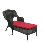 Olivia Chaise Lounge in Ebony Finish by Palm Springs Rattan - 3609