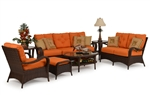 Kokomo 2 Piece Outdoor Sofa Set in Chocolate Finish by Palm Springs Rattan - 6003-S