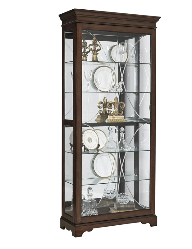 Pfc curio harley finish display cabinet by pulaski pul for Curio cabinet spot