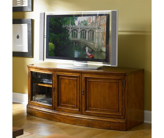 Medley Curved Tv Console In Camden Finish By Riverside 45045