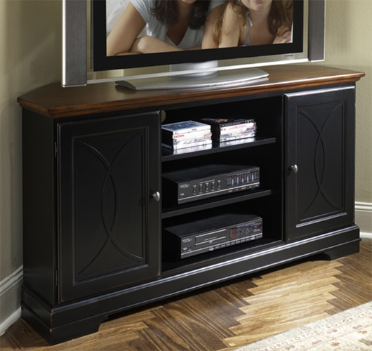 Anelli 60 Inch Corner Tv Console In Madera Cherry And