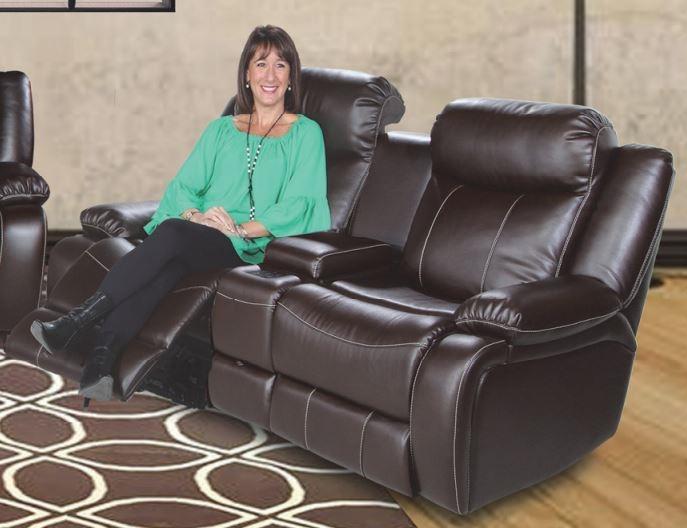 Genesis Jamestown Brown Fabric 2 Seat Power Reclining
