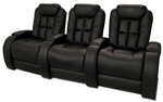 Almada Theater Seating - 3 Leather Chairs By SeatCraft 12027 - Manual Recline