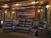 Trezzo Theater Seating - 5 Piece Home Theater Seating in Chocolate Leather By Theatre Delux - 50110