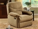 Arcadia Light Brown Microfiber Glider Recliner by Acme - 00634