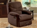 Arcadia Chocolate Microfiber Glider Recliner by Acme - 00635