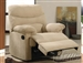Arcadia Beige Microfiber Glider Recliner by Acme - 00636