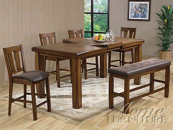 Superior Morrison 6 Piece Counter Height Dining Set In Ash Oak Finish By Acme   00845