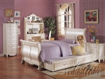 Pearl Twin Sleigh Bed by Acme - 01010T