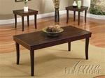 Pico 3 Piece Occasional Table Set in Dark Brown Finish by Acme - 0103