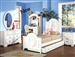 Flora Twin Panel Bed in White Finish by Acme - 01680T