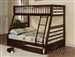 Jason Espresso Finish Twin/Full Bunk Bed with Drawers by Acme - 02020