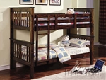 Haley Twin/Twin Walnut Bunk Bed by Acme - 02415