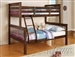Haley Twin/Full Walnut Bunk Bed by Acme - 02417