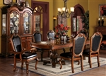 Chateau De Ville Double Pedestal Table 7 Piece Dining Set in Cherry Finish by Acme - 04075-L