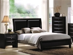 Ireland Upholstered Bed in Black Finish by Acme - 04153Q