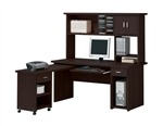 Linda 3 Piece Computer Desk with Hutch Home Office Set in Espresso Finish by Acme - 04692