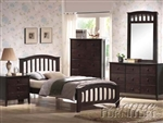 San Marino Mission Panel Bed in Dark Walnut Finish by Acme - 04980T
