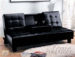 Monticello Sofa Bed with Tray in Black Bycast Upholstery by Acme - 05574
